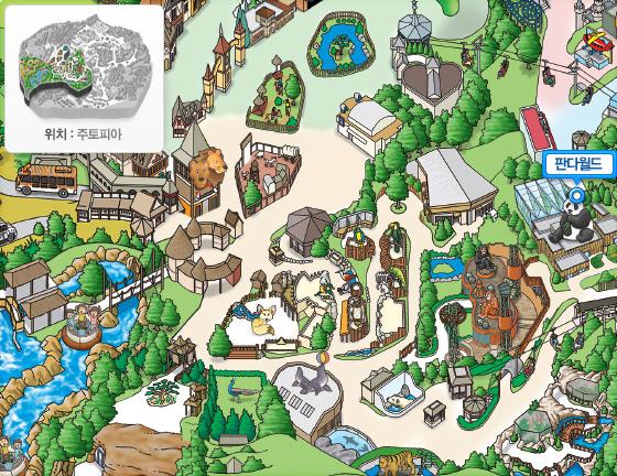 판다월드의 지도