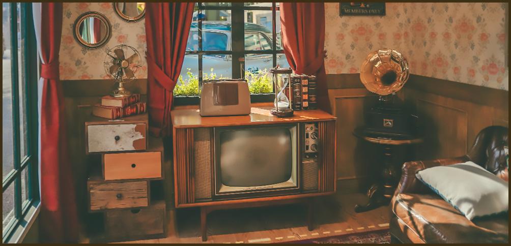 뉴트로 포토 하우스 이미지