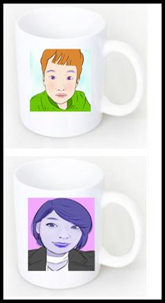 팝아트 컵 만들기 이미지