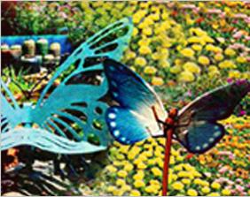 나비 벤치 & 나비 데코레이션 이미지
