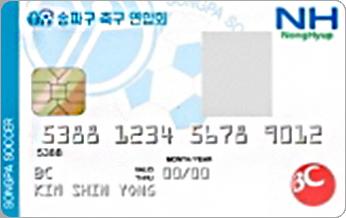 송파구 축구 연합회카드
