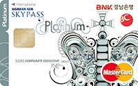 BC카드 경남은행 KNB스카이패스 플래티늄카드