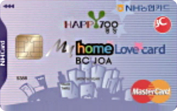 BC NH농협 HAPPY700 평창군 마이홈 러브카드(공무원용)