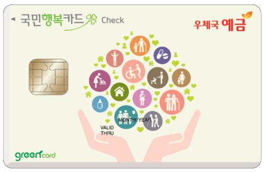 BC카드 우체국 예금 국민행복카드(체크)